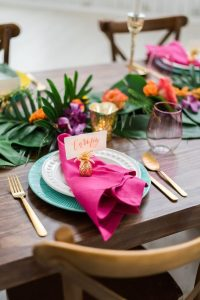 Table Decoration for Wedding Tropical Theme